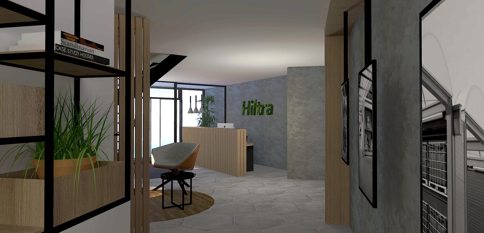 By Thimble Zakelijk Project Hiltra 3D Impressie entree